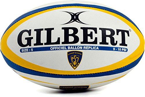 Gilbert-Clermont-Auvergne-Ballon-de-Rugby-Rplique-Officiel-BlancBleuJaune-0